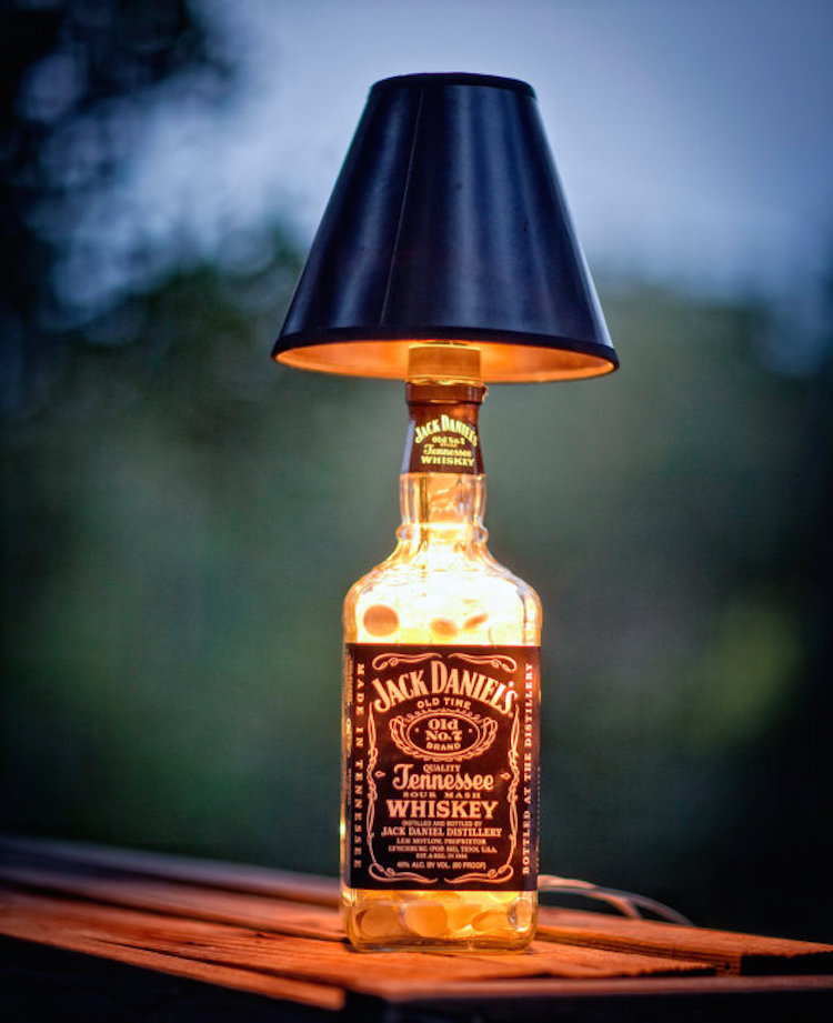 Jack Daniels Bottle Lamp Craft Project